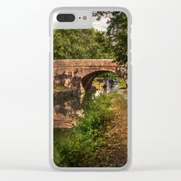 Towpath to Pewsey Bridge Clear iPhone Case