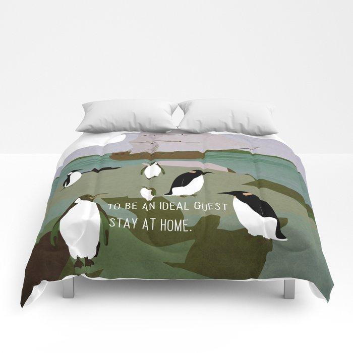 Guests arrive 10 Comforters