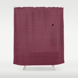 Red Plum and Black Grid - Something's missing Shower Curtain