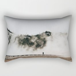 The Woman and the Geyser Rectangular Pillow