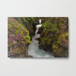 Avalanche Falls Metal Print