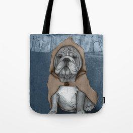 English Bulldog in Stonehenge Tote Bag