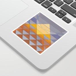 Pyramid Sun Mauve Purple Sticker