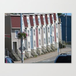 Colorful Houses St Johns Newfoundland Canada Canvas Print
