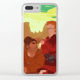 Lazy Canyon Days Clear iPhone Case