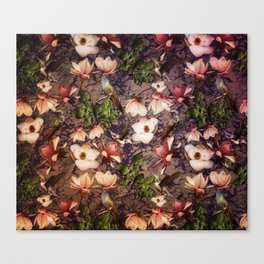Magnolias and Hummingbirds Canvas Print