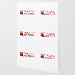 Arizona: Tucson (State Shape & Flag) Wallpaper