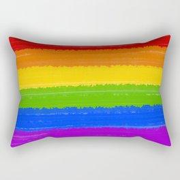 Rainbow Pride Flag Rectangular Pillow