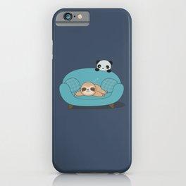 Kawaii Cute Panda And Sloth iPhone Case