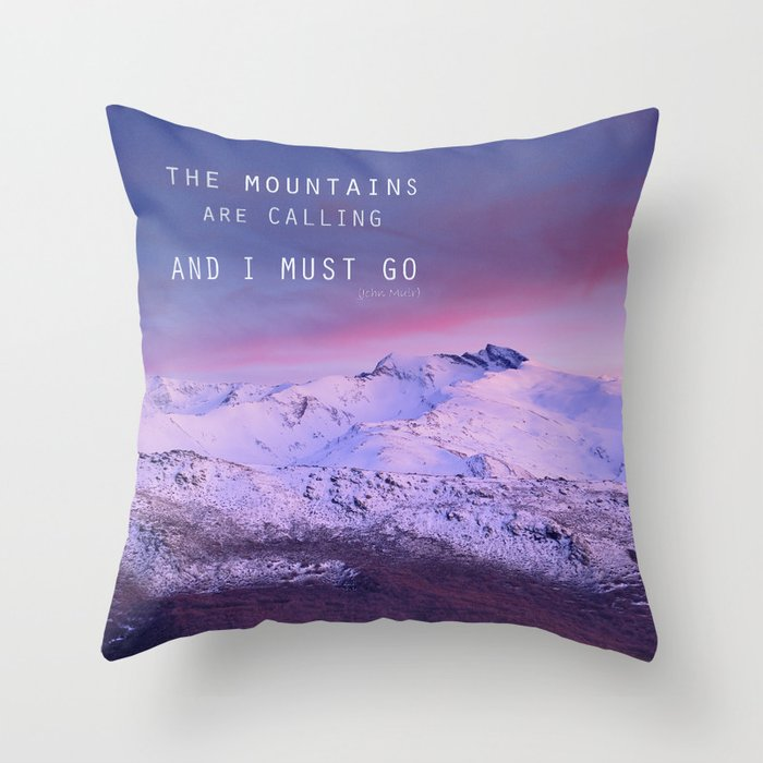 The mountains are calling and i must go john muir throw for The mountains are calling and i must go metal sign
