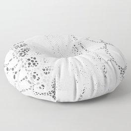 White Snake Skin Floor Pillow