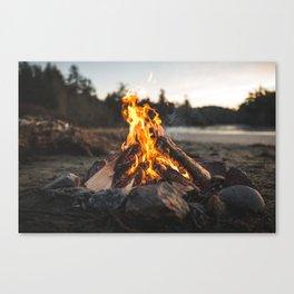Campfires along the Coast Canvas Print