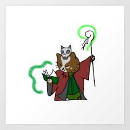 Cat Necromancer Art Print