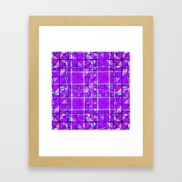 Purple Pattern. Digital Purple Pattern. Framed Art Print