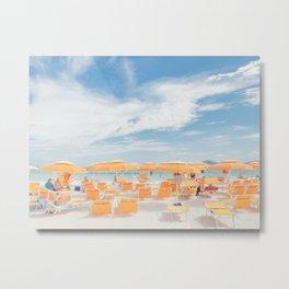 sardinia italy beach scene Metal Print