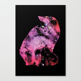 Celestial Cat - The British Shorthair & The Pelican Nebula Canvas Print