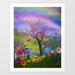 Fairytale Fantasy Garden Art Print