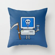 Blue Screen of Death Throw Pillow