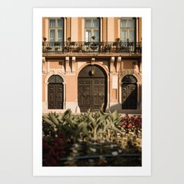 Gate of the city hall Sombor, Serbia Art Print