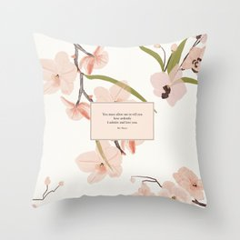 You must allow me...Mr. Darcy. Pride and Prejudice. Throw Pillow