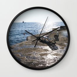 Let The Waves Hit Wall Clock