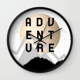 Adventure Golden Sunrise Wall Clock