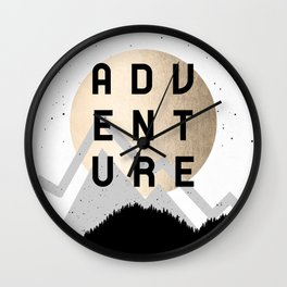 Adventure Golden Sunrise Wall Clock