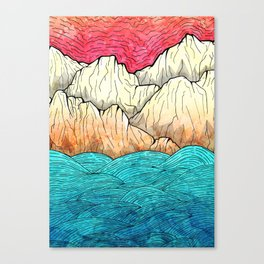 As the sea hits the mountains Canvas Print