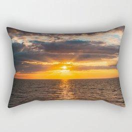 Sunrise over lake Ladoga Rectangular Pillow