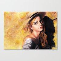 emma watson Canvas Prints featuring EMMA WATSON by Laura Catrinella