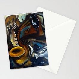Black Cat Jazz Stationery Cards