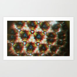 3D Kaleidoscope Art Print