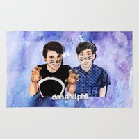 phil jones Area & Throw Rugs featuring DAN AND PHIL by Share_Shop