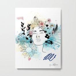 Primavera - Magnolia Metal Print