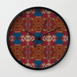 New Color Pyramidal Mandala 72 - Pattern 3 Wall Clock