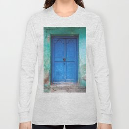 Blue Indian Door Long Sleeve T-shirt