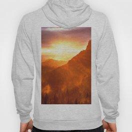 Epic Autumn Sunset Mountain Hoody