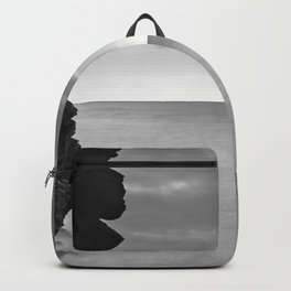 Big cliff. BW Backpack