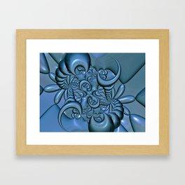 Gunmetal Blue 6 Framed Art Print