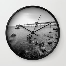 Llandudno Peir Bw Wall Clock