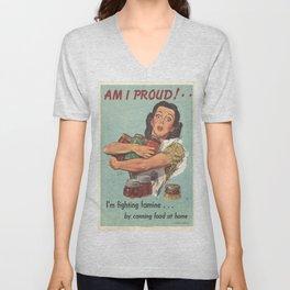 Vintage poster - Am I Proud? Unisex V-Neck