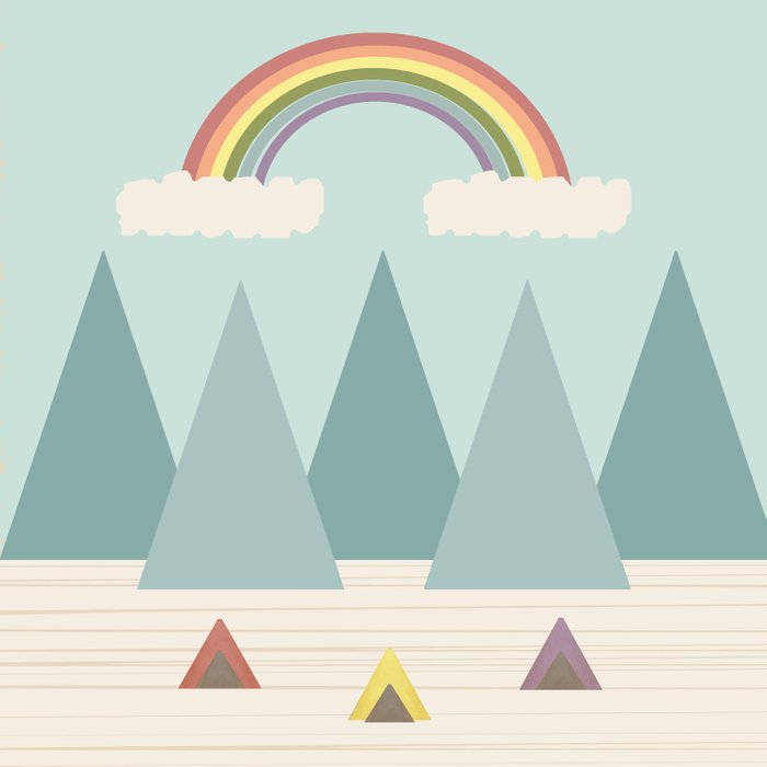 Camping Under the Rainbow Comforters
