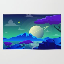 The View On Saturn Rug