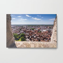 View of York from York Minster Cathedral tower Metal Print