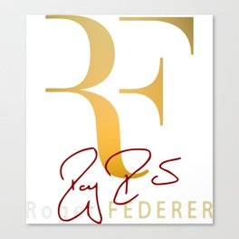 RF is Roger Federer Canvas Print