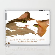 Life Without Cats Laptop & iPad Skin