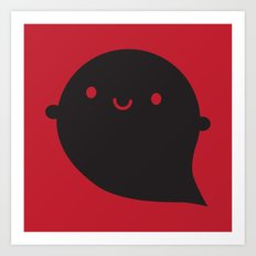 Evil Twin Black Ghost - Kawaii Halloween Art Print