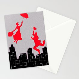 Mary Poppins squares Stationery Cards