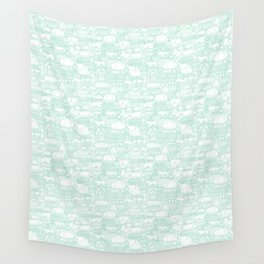 Delightful Domes - Mint Wall Tapestry