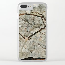 Egon Schiele - Autumn Tree In Stirred Air (Winter Tree) Clear iPhone Case
